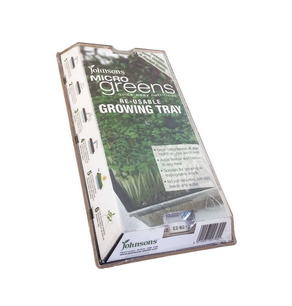 Johnsons Micro Greens Reusable Growing Tray With Seeds